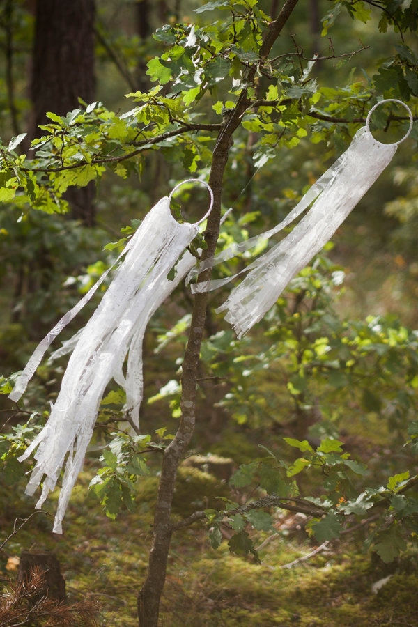 Mini mežģīņu sapņu ķērājs, balts