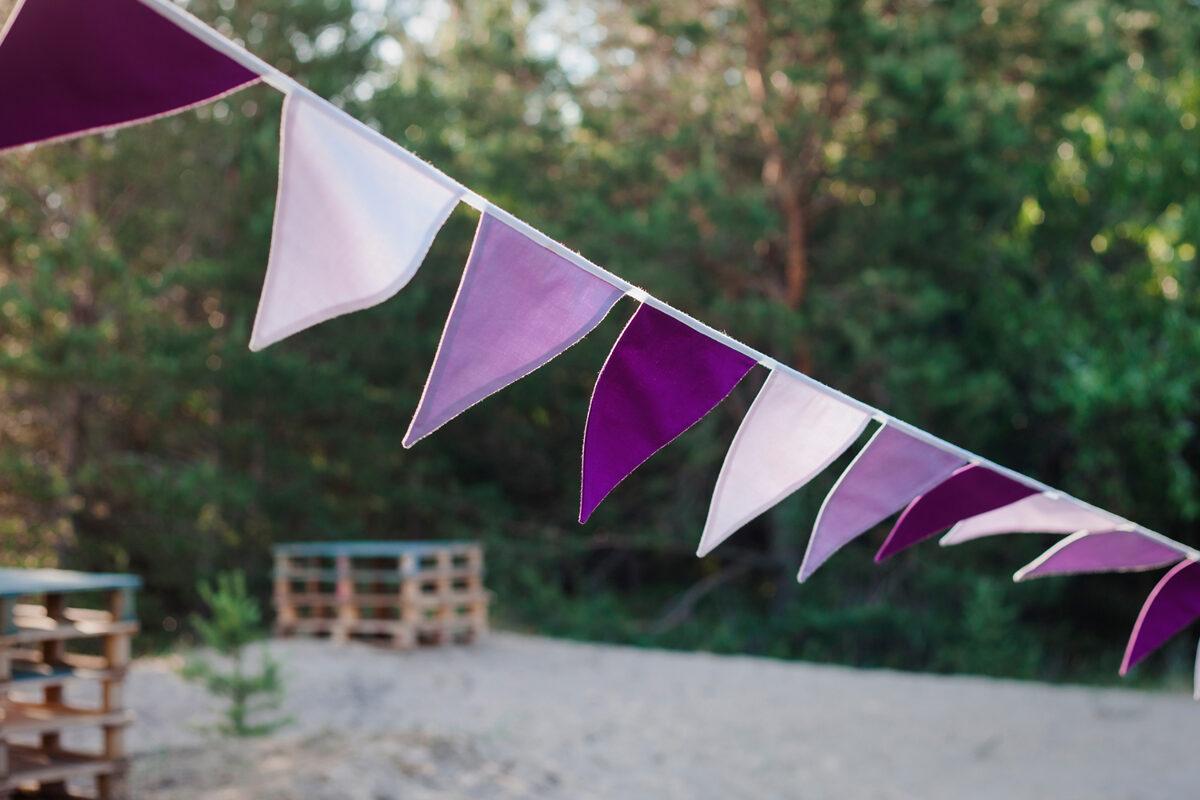 Karodziņu virtene, violeta, 4m