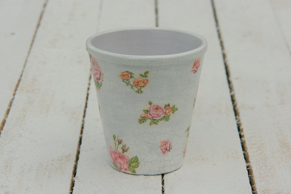 Vintage rozā ziedu sērija