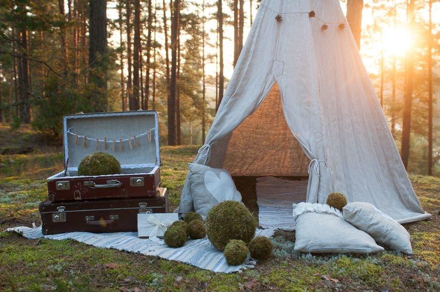Lina auduma vigvam/telts