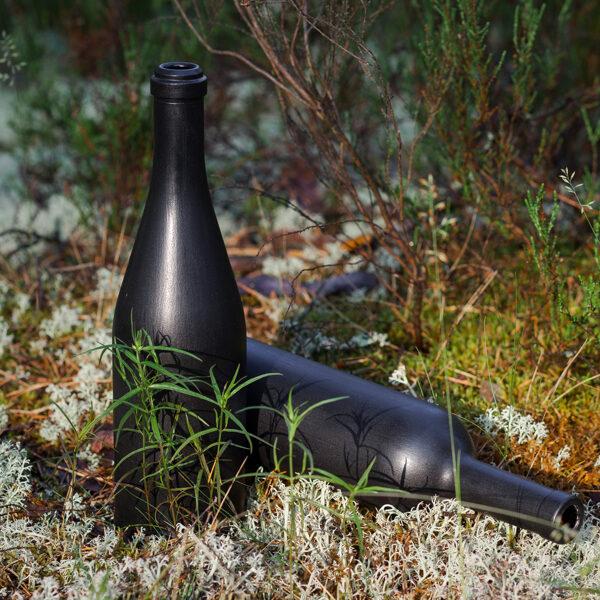 Pudele ar melnu tāfeles krāsu