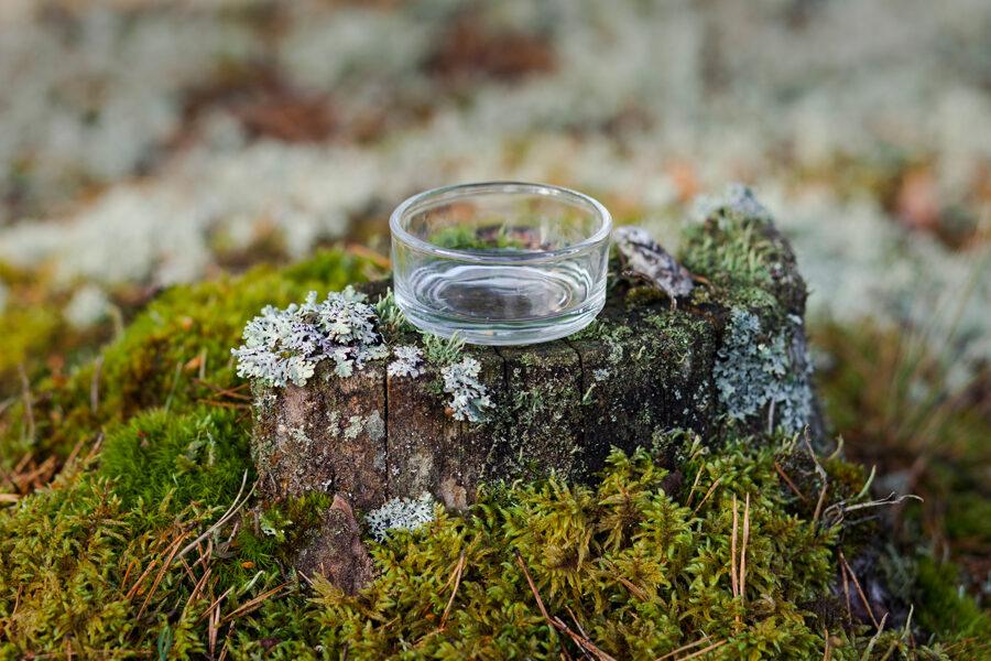 Stikla svečturi lielām tējas svecēm